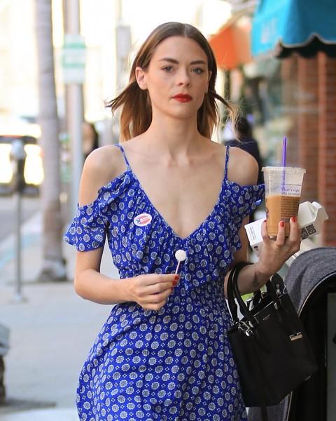 Jaime King Leather Tote