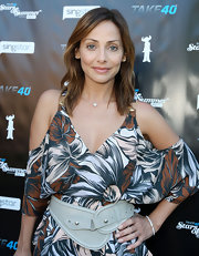Natalie Imbruglia spruced up her dress with an oversized gray belt at the Take 40 party.