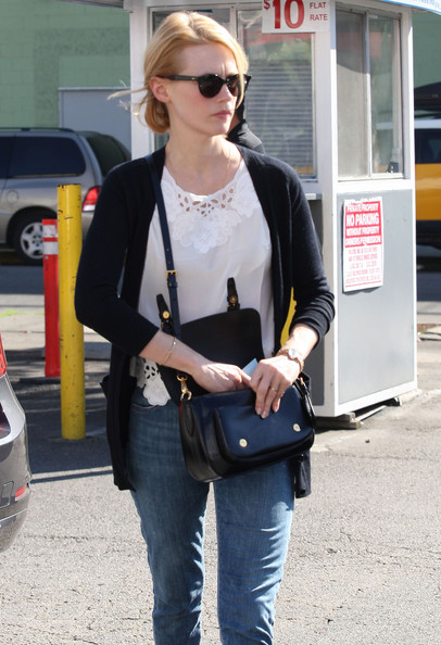 More Pics of January Jones Motorcycle Boots (1 of 39) - January Jones Lookbook - StyleBistro