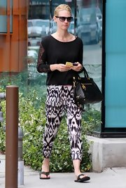 January rocked the tribal trend with a pair of printed, cropped pants.