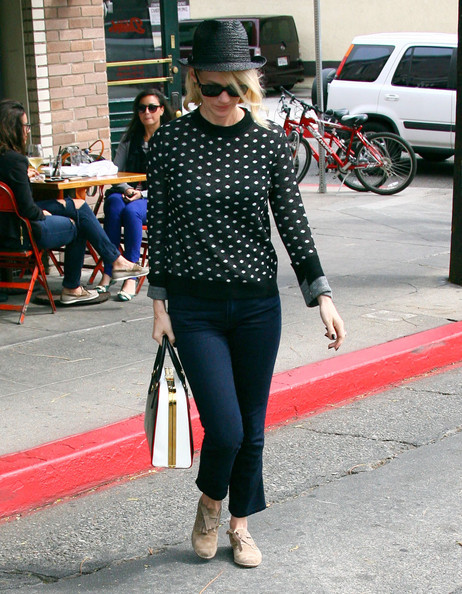 More Pics of January Jones Flat Oxfords (2 of 8) - January Jones Lookbook - StyleBistro