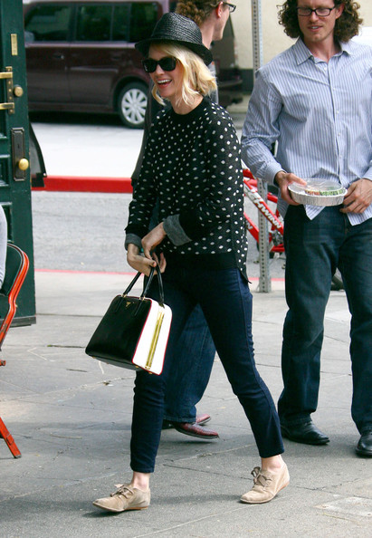 More Pics of January Jones Flat Oxfords (3 of 8) - January Jones Lookbook - StyleBistro