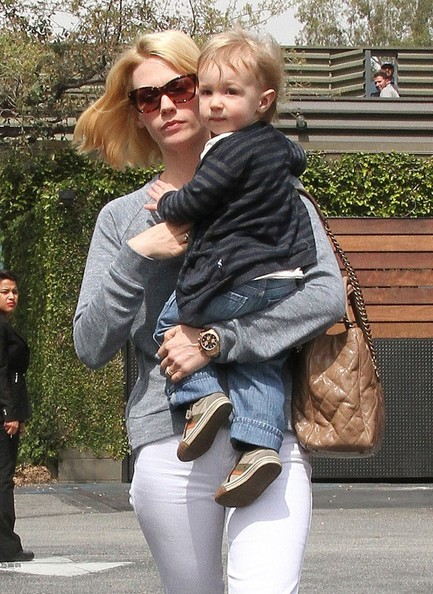 More Pics of January Jones Skinny Jeans (1 of 68) - January Jones Lookbook - StyleBistro