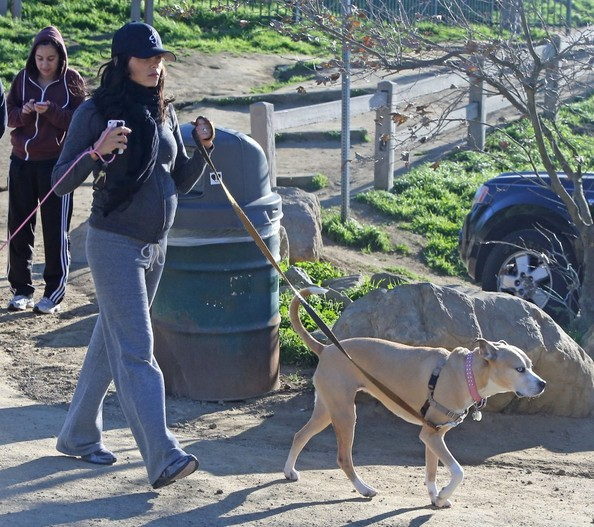Pregnant Jenna Dewan Takes A Hike With Her Dogs