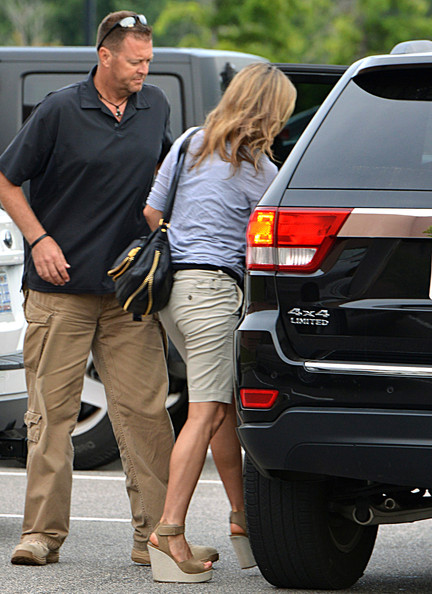 More Pics of Jennifer Aniston Wedges  (1 of 3) - Jennifer Aniston Lookbook - StyleBistro