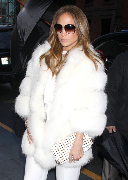Jennifer Lopez Studded Clutch