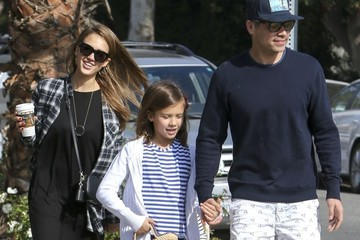 Jessica Alba Cash Warren Jessica Alba and Her Family Walk Around West Hollywood