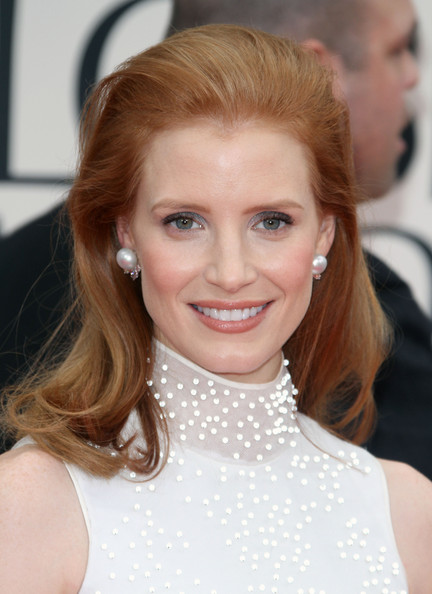 Jessica Chastain Pearl Studs []