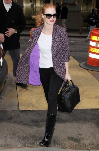 Jessica Chastain Arriving To Play 'The Heiress'