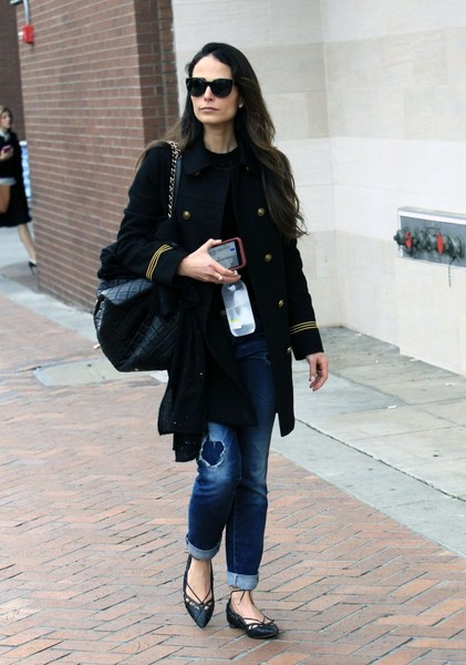 Jordana Brewster Military Jacket