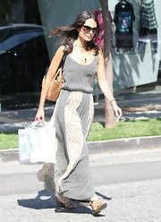 Jordana's printed maxi had a country feel while still being totally city-chic.