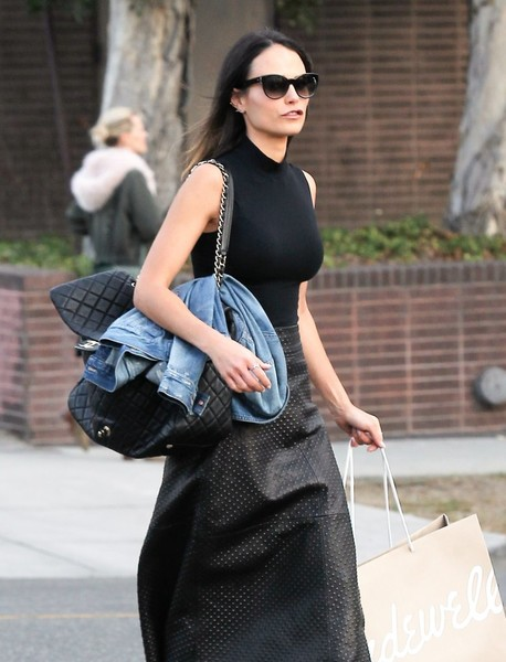 Jordana Brewster Quilted Leather Bag