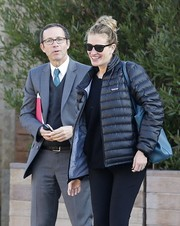 Julia Roberts stepped out for a lunch meeting wearing classic wayfarer sunglasses.