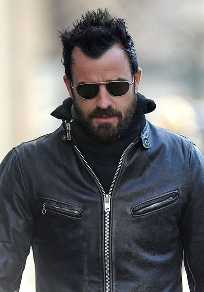 More Pics of Justin Theroux Motorcycle Jacket (1 of 17) - Justin Theroux Lookbook - StyleBistro