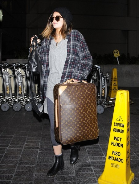 More Pics of Kylie Jenner Leather Suitcase (1 of 6) - Leather Suitcase Lookbook - StyleBistro []