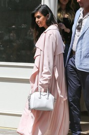 Kourtney Kardashian toted a chic mini bowler bag by Givenchy while out for lunch in NYC.