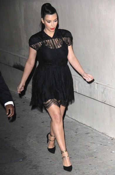 More Pics of Kim Kardashian Little Black Dress (1 of 3) - Kim Kardashian Lookbook - StyleBistro