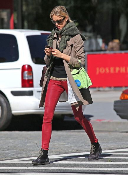 Karolina Kurkova Lace Up Boots
