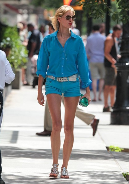 Karolina Kurkova Button Down Shirt