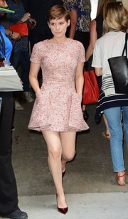 Kate Mara was a cutie in a Christian Dior tweed mini dress while out and about in New York City.