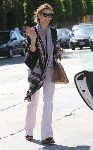 More Pics of Kate Walsh Patterned Scarf (1 of 7) - Scarves Lookbook - StyleBistro