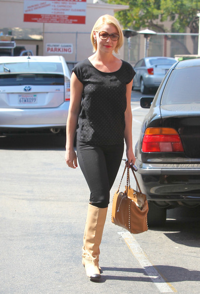 Katherine Heigl Knee High Boots