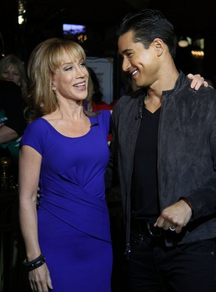 Kathy Griffin & Mario Lopez Hand Out Cupcakes At The Grove