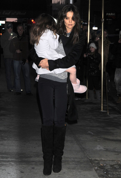 Katie Holmes Knee High Boots