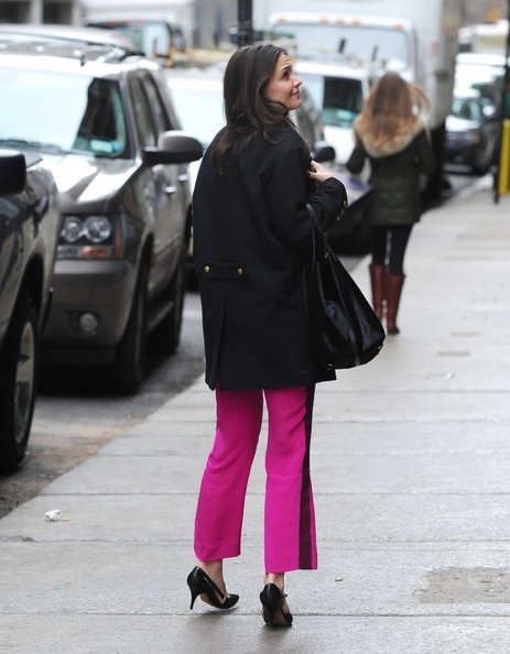 More Pics of Katie Holmes Wool Coat (1 of 9) - Wool Coat Lookbook - StyleBistro