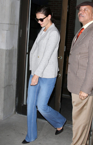 More Pics of Katie Holmes Flare Jeans (3 of 3) - Jeans Lookbook - StyleBistro []