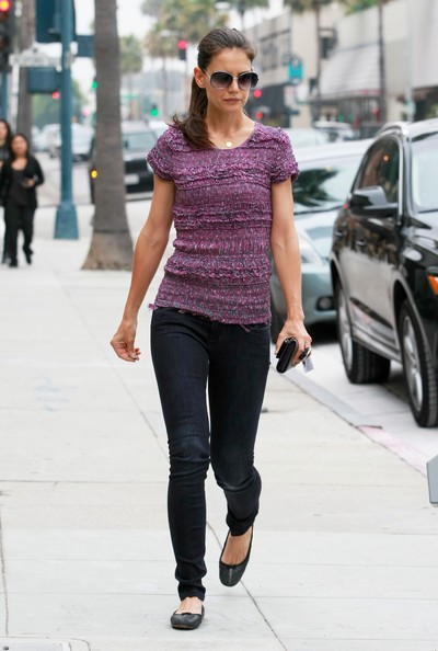 Katie Holmes Fitted Blouse []
