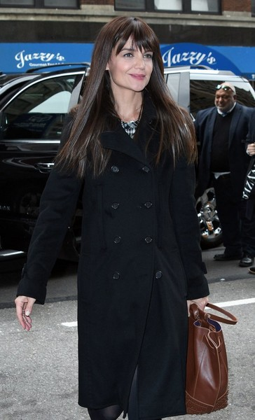 Katie Holmes Studded Tote []