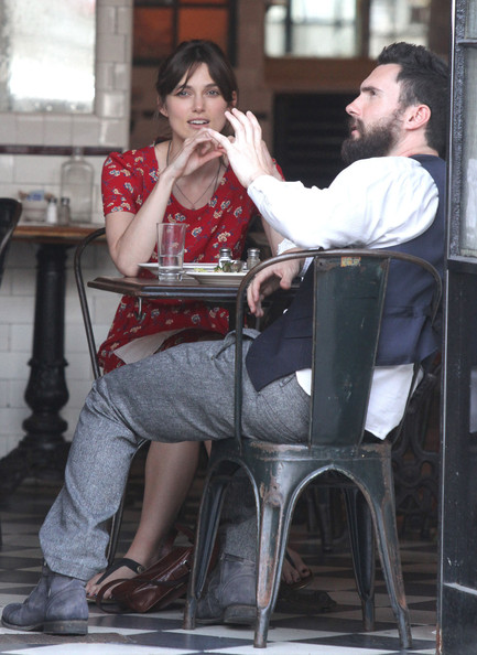 Keira Knightley And Adam Levine Film 'Can a Song Save Your Life?'
