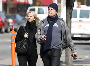 Kelsey Grammer looked cozy in his knit beanie and matching scarf while strolling in New York.