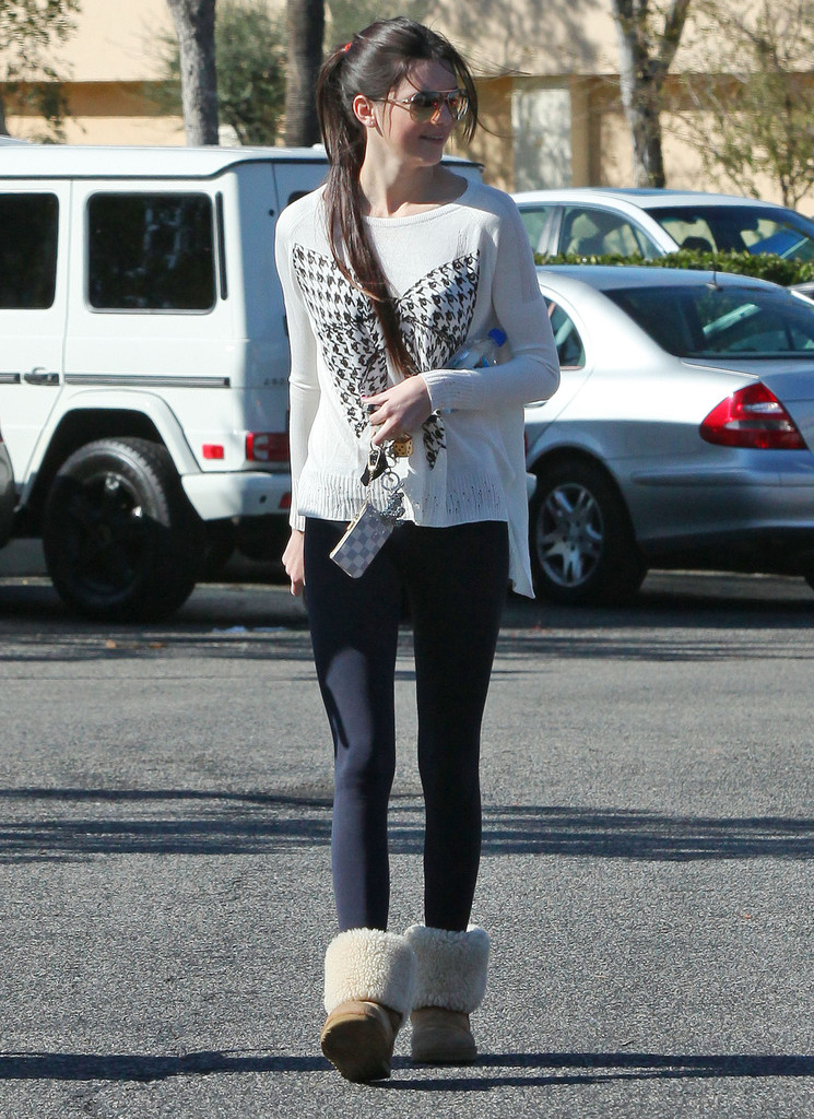 TV personality Kendall Jenner was out and about at the Calabasas Commons shopping in Calabasas, California with a friend and her puppy on January 21, 2012.