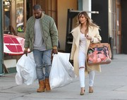 Kanye commissioned artist George Condo to hand-paint this one-of-a-kind Birkin bag for Kim Kardashian.