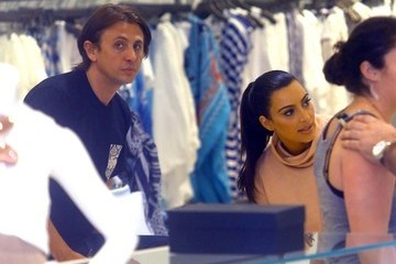 Kim Kardashian Jonathan Cheban The Kardashian Sisters Shop in Miami
