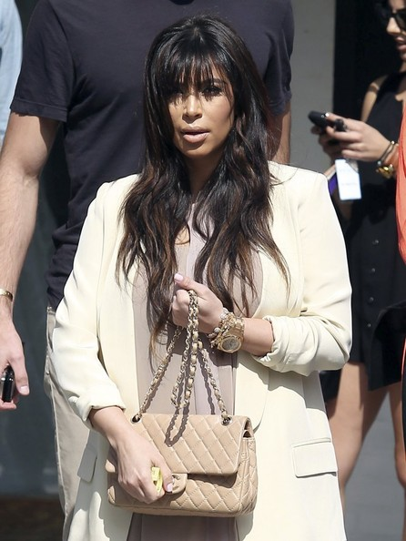 Kim Kardashian stepped out in Beverly Hills rocking a huge gold watch.