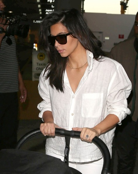 Kim Kardashian Button Down Shirt
