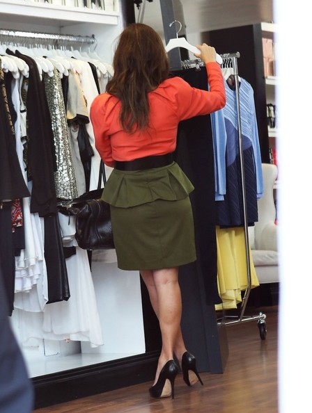 More Pics of Kourtney Kardashian Loose Blouse (1 of 24) - Loose Blouse Lookbook - StyleBistro