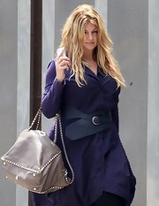 Kirstie Alley styled up her shirtdress with a chic oversized black belt for a meeting in Studio City.