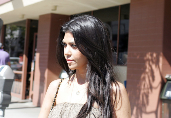 More Pics of Kourtney Kardashian Gold Pendant (1 of 9) - Kourtney Kardashian Lookbook - StyleBistro