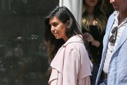 Kourtney Kardashian Leather Bowler Bag