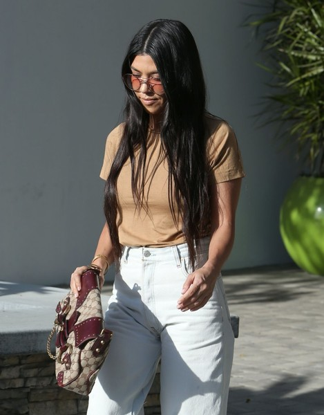 More Pics of Kourtney Kardashian High-Waisted Jeans (1 of 8) - Jeans Lookbook - StyleBistro