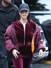 Kourtney Kardashian was spotted out and about looking sporty in a Msfts baseball cap.