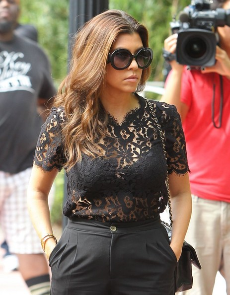 Kourtney Kardashian Fitted Blouse