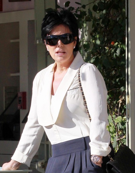 Kris Jenner Gold Chronograph Watch