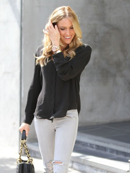 More Pics of Kristin Cavallari Button Down Shirt (1 of 31) - Tops Lookbook - StyleBistro