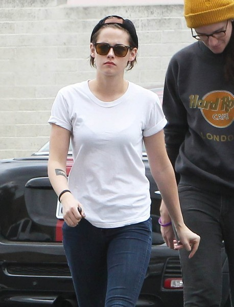 Kristen Stewart hid her eyes behind a pair of Oliver Peoples sunglasses while out in Hollywood.