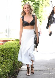Kristin Cavallari turned heads on the streets of LA in a black leather bra by Rubin Singer.